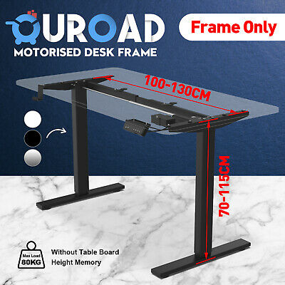 AU249.90 • Buy Frame Only Standing Table Height Adjustable Electric Sit Motorised Office Desk