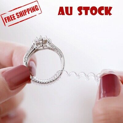AU3.99 • Buy Ring Size Adjuster Reducer Spiral Invisible Snugs Guard Resizer Jewellery Tool