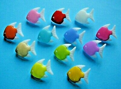 £2.40 • Buy 12 Angel Fish  Novelty Buttons  With Shank