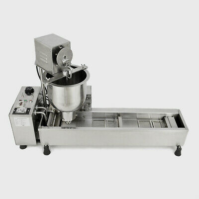 £760.32 • Buy 3 Sets Mold 220V Automatic Wide Oil Tank Commercial Donut Maker Making Machine