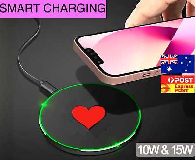 AU16.90 • Buy PHONE CHARGER Cordless WIRELESS FAST Charging For Apple IPhone 8 X 11 12 Samsung