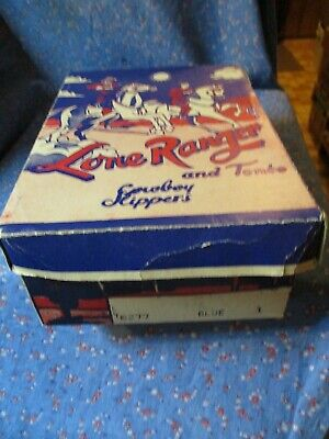 £50.83 • Buy Vintage Lone Ranger And Tonto Cowboy Slippers Box Only  9 1/2 X 6 3/4 X 3 1/2