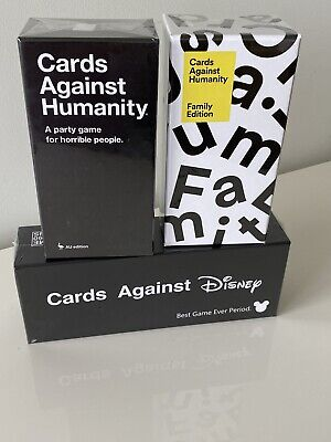AU79.99 • Buy Cards Against Humanity Disney , Family And Adults Version Card Game Package Deal