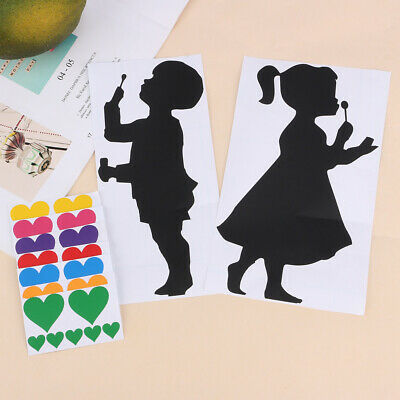 £3.69 • Buy Girl And Boy Blowing Rainbow Bubble Heart Stickers Set Window Wall Glass Display