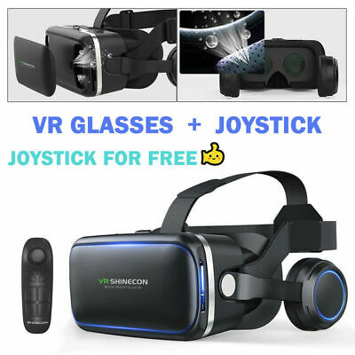 AU38.99 • Buy VR Headset VR BOX Virtual Reality Glasses 3D Controller For IPhone IOS Androiad