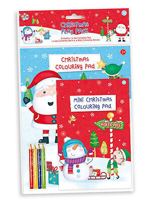 £2.49 • Buy Childrens Christmas Play Pack Colouring Pads Pencils Childrens Activity Set Kids