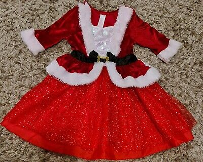 £7 • Buy Girls Mrs Santa Claus Christmas Outfit Fancy Dress Up Costume 3-4