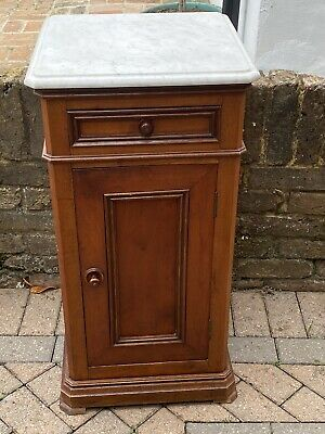 £99 • Buy French Mahogany Marble Top Antique Bedside Cabinet