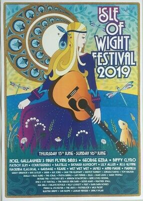£9.99 • Buy Isle Of Wight Festival 2019 A3 Poster Iow Richard Ashcroft Lily Allen Miles Kane