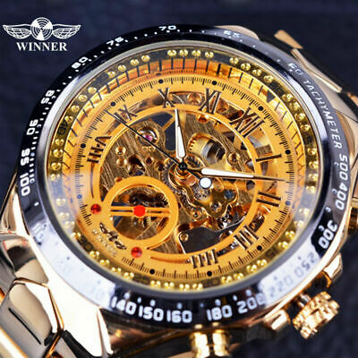 £20.95 • Buy Mens Watches Mechanical Automatic Skeleton Classic Fashion Stainless Steel Watch