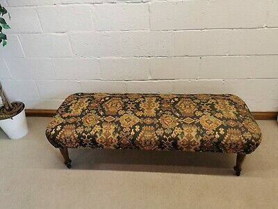 £150 • Buy Antique Ottoman Style Window Bench - End Of Bed Seat - Bedroom Chair