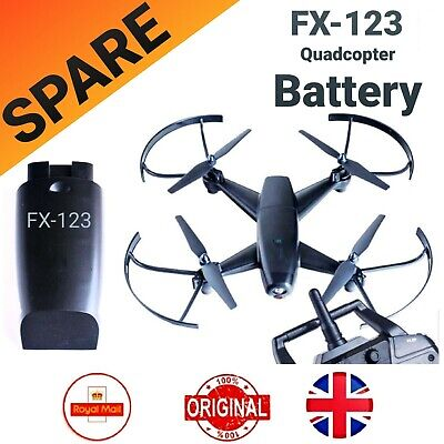 £14.99 • Buy Spare Battery For FX-123 Quadcopter Drone - BLACK  ( 1Pack )
