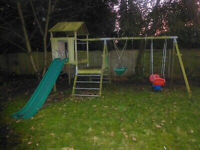 £200 • Buy TP Toys Sherwood Tower Wooden Play Tower/Den With Swing And Slide