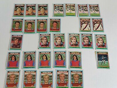 £6.99 • Buy Vintage 1970s Topps Chewing Gum Aston Villa Collectors Football Cards. Well Used