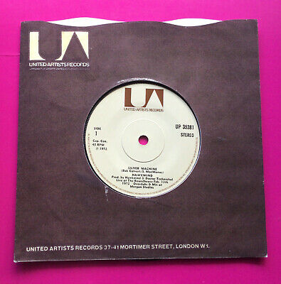 £6.99 • Buy A307, Silver Machine, Hawkwind, 7 45rpm Single, Excellent Condition