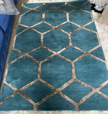 £80 • Buy Fantastic Hardly Used Rug Ardelle Rug, Peacock From Swoon **Buyer Collection**