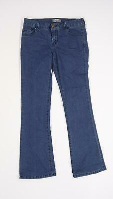£8 • Buy Dorothy Perkins Womens Blue  Denim Flared Jeans Size 10 L30 In