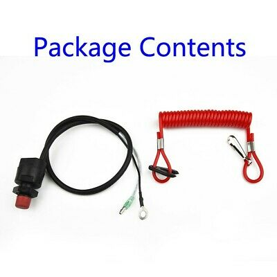 AU24.76 • Buy Outboard Motor Switch Parts Waterproof With Red Rope Kill High Quality