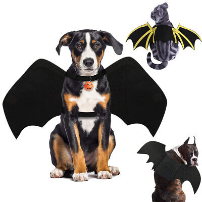£7.31 • Buy Halloween Pet Dog Cat Bat Wing Cosplay Prop Costume Outfit Wings Cat Photo Props