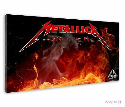 £38.99 • Buy Metallica Album Art With Flame Jump In The Fire Canvas Wall Art Picture Print