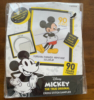 £13.99 • Buy Mickey Mouse 90 Years Cross Stitch - Disney With Hoop!