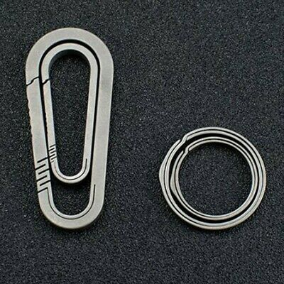 £8.99 • Buy Titanium Alloy Carabiner D-Ring Key Chain Clip Snap Hook Camping Keychain