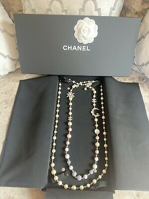 £1500 • Buy New Chanel Pearl Double Strand Moon And Star Pastel Necklace  *RARE*