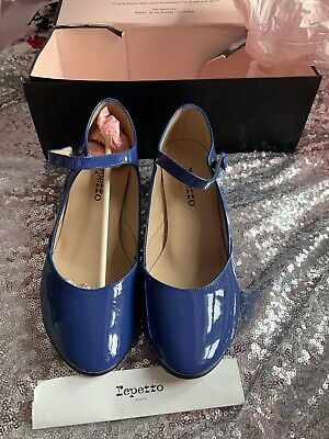 £33 • Buy Repetto Women Blue Patent Leather Shoes Size 6 Rrp £155 Box Damaged From Stora