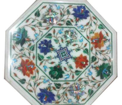 £177.47 • Buy 12  Side Table Top Marble Inlay Pietra Dura For Home Decor And Garden