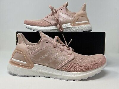 AU233.42 • Buy Adidas UltraBoost 20 Running Shoes Vapour Pink White FV8358 Women's Size 9