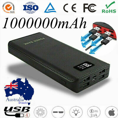 AU26.99 • Buy 4 USB Power Bank 1000000mAh External Battery Fast Charging Portable Charger LED