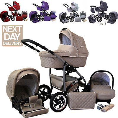£298 • Buy Baby Buggy Pram Set Pushchair Car Seat Carrycot 3 In 1 Travel System From Birth