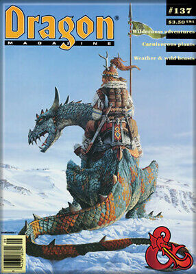 AU32.69 • Buy Dungeons And Dragons Dragon Magazine 137 3.5 X 2.5 Magnet