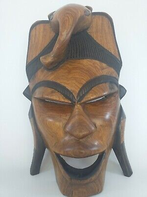 £15 • Buy African-Style Wooden Face Mask Wall Decoration With Elephant's Head (AN_1399)