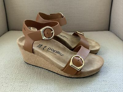 £61.72 • Buy Papillio By Birkenstock Soley Wedge Sandals Ginger Brown 38, 7 NEW IN BOX