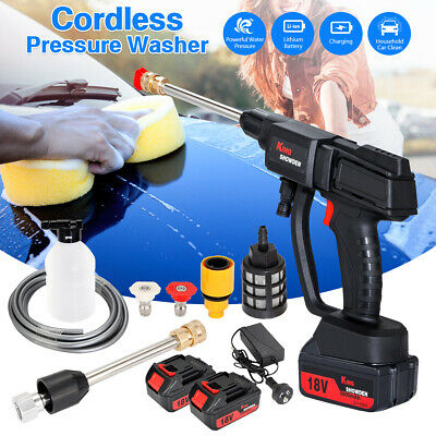 £67.99 • Buy 2 Battery Portable Cordless Car High Pressure Washer Jet Water Wash Cleaner Gun