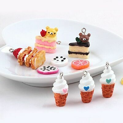 £5.86 • Buy 10pcs Strawberry Cake Resin Charms 3D Bears Pendant Charm Jewelry Making Finding