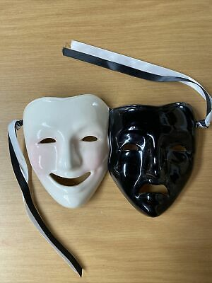 £10.50 • Buy Wall Face Masks Comedy And Tragedy Theatre Drama Ceramic