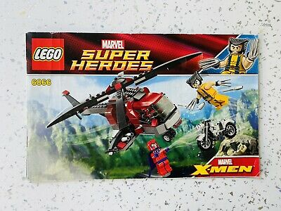 £1.50 • Buy LEGO SUPER HEROES WOLVERINE's CHOPPER SHOWDOWN SET 6866 Instructions Only