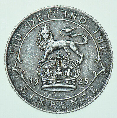 £4 • Buy 1925 George V Sixpence, British Silver Coin Ef