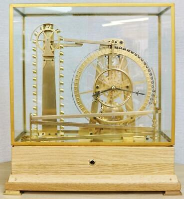 £3495 • Buy Rare Vintage 8 Day Automation Waterwheel Industrial Mystery Ball Table Clock