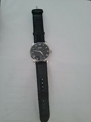 £40 • Buy Hugo BOSS Watches Mens Watch Black Leather Strap 1513585