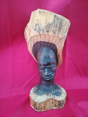 £2.50 • Buy African Wooden Carved Head/Bust Tribal Art
