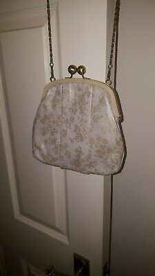 £12 • Buy Lisbeth Dahl Embossed Leather Evening/special Occasion Bag
