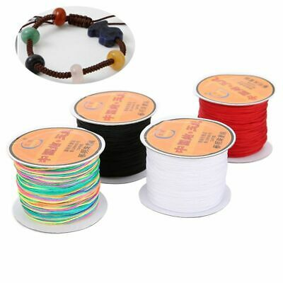 £4.49 • Buy 45meters Braided Nylon Thread Cords 0.4/0.6/0.8mm Chinese Knot Macrame String Je