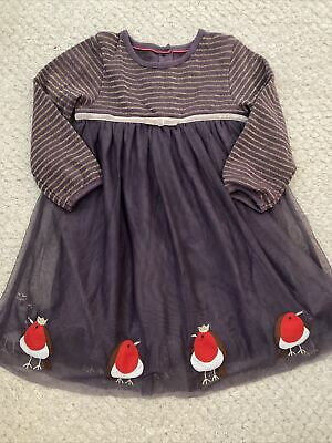 £10 • Buy Baby Boden Christmas Robin Tulle Party Dress 12-18 Months