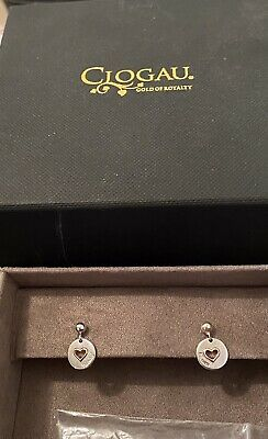 £75 • Buy Clogau Silver & Rose Gold Cariad Stud Drop Earrings - New Boxed