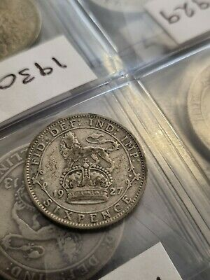 £4 • Buy 1927  George V  Silver Sixpence -