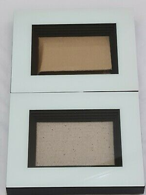 £10 • Buy 2x 3D Deep Box Glass White Frame Rectangle Picture Photo Craft Art Medal Display