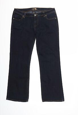 £8 • Buy Dorothy Perkins Womens Blue  Denim Flared Jeans Size 16 L28 In